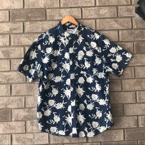 Men's Floral Blue Slim Fit Old Navy Top